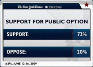 Support for Public Option