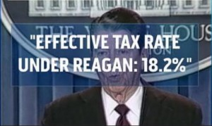 The Lowest Effective Tax Rate under President Reagan