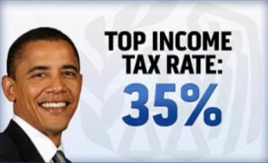 Top Income Tax Rate under President Obama