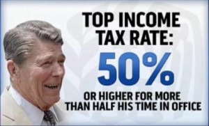 Top Income Tax Rate under President Reagan