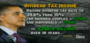 President Obama's dividend tax increase