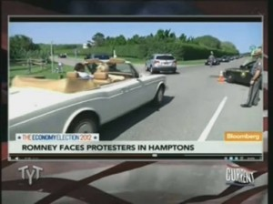 Romney faces protesters in Hamptons