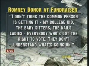 Romney donor at fundraiser