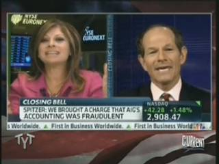 Maria Bartiromo attacking Eliot Spitzer