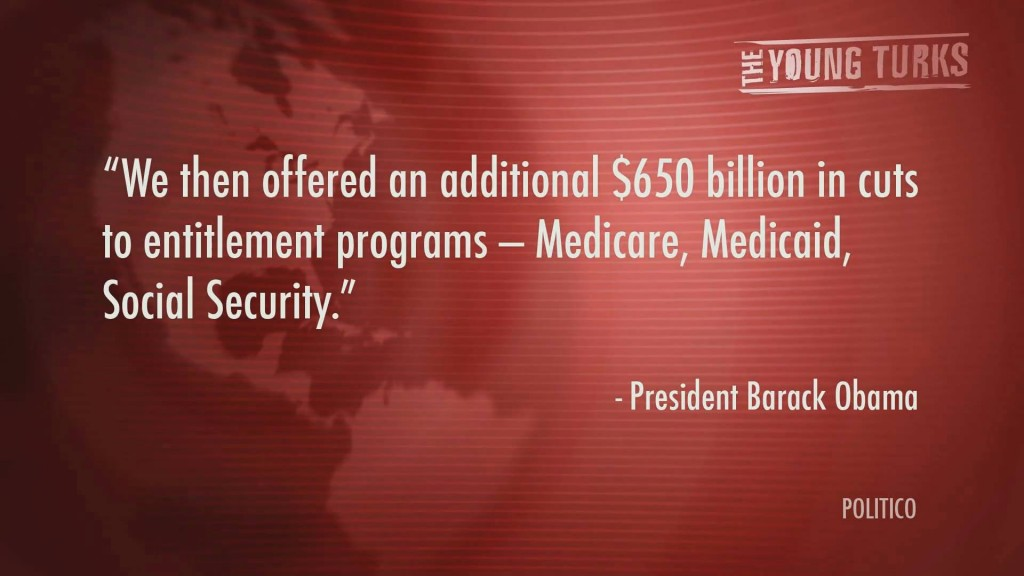 Obama offere an additional $650 billion in cuts to social security, medicare, medicaid